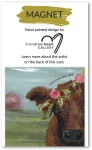 Cow & Floral Design Live Your Best Life Decorative Refrigerator Magnet on Backer Card from Primitives by Kathy