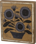 Potted Flower Design Hello Darling Decorative Slat Wood Box Sign Wall Décor 12x14 from Primitives by Kathy