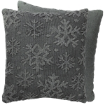 Textured Snowflake Design Decorative Knobyy Cotton & Canvas Throw Pillow 18x18 from Primitives by Kathy