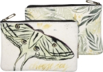 Butterfly Design Double Sided Choose Joy Velved Zipper Pouch Handbag from Primitives by Kathy