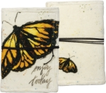 Butterfly Design Enjoy Today Double Sided Velvet Journal (48 Pages) from Primitives by Kathy