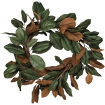 Artificial Magnolia Leaves Decorative Wreath 30 Inch from Primitives by Kathy