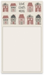 Love Lives Here Large Magnetic Notepad (60 Pages) from Primitives by Kathy