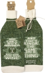 You Can't Buy Happiness But You Can Buy Wine Bottle Sock Holder from Primitives by Kathy