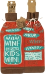 Mom Wine Because Kids Whine Wine Bottle Sock Holder from Primitives by Kathy