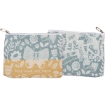 Buttefly Design You Can Do This Cotton Zipper Pouch Handbag from Primitives by Kathy