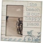 The Beach Is Our Happy Place Decorative Photo Picture Frame (Holds 3x5 Photo) from Primitives by Kathy
