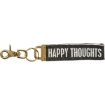 Happy Thoughts Stonewashed Canvas Key Chain from Primitives by Kathy