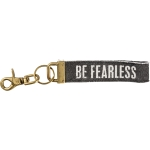 Be Fearless Stonewashed Canvas Key Chain from Primitives by Kathy