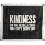 One Kind Word Can Change Someone's Day Decorative Canvas Wall Banner Sign 30x24 Primitives by Kathy