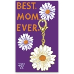 Daisy Design Best Mom Ever Hard Enamel Key Chain from Primitives by Kathy