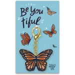 Butterfly Design Be You Tiful Hard Enamel Key Chain from Primitives by Kathy