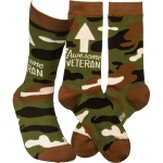 Awesome Veteran Colorfully Printed Cotton Socks from Primitives by Kathy