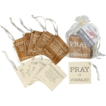 Set of 12 Pray It Forward Bible Verses Wooden Token Gift Tags from Primitives by Kathy