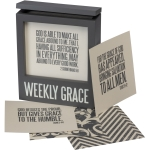 Words Of Wisdom Weekly Grace Sentiments Decorative Wooden Box from Primitives by Kathy