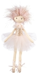 Pink Glitter Ballerina Doll 17 Inch from Primitives by Kathy