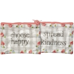 Spread Kindness Choose Happy Double Sided Zipper Wallet from Primitives by Kathy