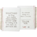 Teacher Things Your Students Need Most Double Sided Spiral Notebook (120 Lined Pages) from Primitives by Kathy