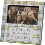 My Favorite People Call Me Grandpa Decorative Wooden Photo Picture Frame (Holds 5x3 Photo) from Primitives by Kathy