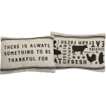 Farm Themed Always Something To Be Thankful For Decorative Cotton Throw Pillow 20x14 from Primitives by Kathy
