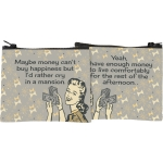 Maybe Money Can't Buy Happiness Zipper Wallet Pouch from Primitives by Kathy