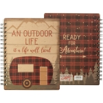 Outdoor Life Is Well Lived Double Sided Spiral Notebook (120 Pages) from Primitives by Kathy