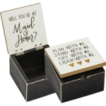 Maid Of Honor Plan With Me Cry With Me Laugh With Me Hinged Wooden Keepsake Box 4x4 from Primitives by Kathy