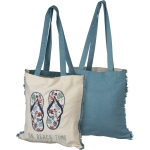Flip Flop Design On Beach Time Cotton Tote Bag from Primitives by Kathy