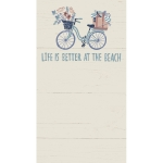 Bicycle Themed Life Is Better At The Beach Large Notepad (60 Pages) from Primitives by Kathy