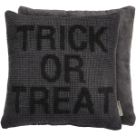 Gray & Black Knobby Knit Trick Or Treat Decorative Throw Pillow 15x15 from Primitives by Kathy