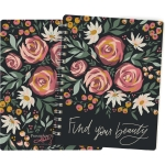 Floral Design Find Your Beauty Spiral Notebook (120 Lined Pages) from Primitives by Kathy