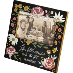 Botanical Desing Little Moments Best Memories Photo Picture Frame (Holds 6x4 Photo) from Primitives by Kathy