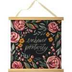 Embrace Positivity Botanical Design Canvas Wall Décor Sign 17x17 from Primitives by Kathy