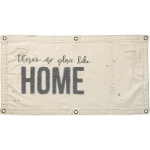 There's No Place Like Home Decorative Canvas Wall Banner 40x20 from Primitives by Kathy