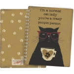 I'm A Normal Cat Lady You're A Crazy People Person Double Sided Spiral Notebook from Primitives by Kathy