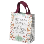 Floral Pattern Design Autumn Leaves And Pumpkin Please Daily Tote Bag from Primitives by Kathy