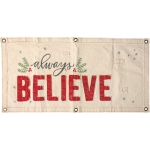 Holly Berry Design Always Believe Holiday Decorative Wall Banner Sign 40x20 from Primitives by Kathy