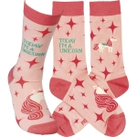 Today I'm A Unicorn Colorfully Printed Cotton Socks from Primitives by Kathy