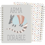 Armadillo Arma Dorable Double Sided Spiral Notebook (120 Lined Pages) from Primitives by Kathy