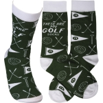 These Are My Golf Socks Colorfully Prinated Cotton Socks from Primitives by Kathy