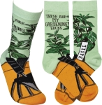 These Are My Gardening Socks Colorfully Printed Cotton Socks from Primitives by Kathy