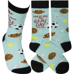 These Are My Game Day Socks Colorfully Printed Cotton Socks from Primitives by Kathy