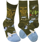 These Are My Road Trip Socks Colorfully Printed Cotton Socks from Primitives by Kathy