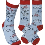These Are My Biking Socks Colorfully Printed Cotton Socks from Primitives by Kathy