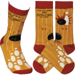 These Are My Bowling Socks Colorfully Printed Cotton Socks from Primitives by Kathy