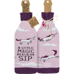 Unicorn Themed A Little Magic In Every Sip Wine Bottle Sock Holder from Primitives by Kathy