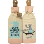 Cat Mother Wine Lover Wine Bottle Sock Holder from Primitives by Kathy