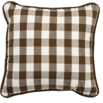 Small Brown & White Buffalo Check Decorative Cotton Throw Pillow 10x10 from Primitives by Kathy