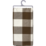 Brown & White Buffalo Check Pattern Cotton Dish Towel 20x28 from Primitives by Kathy