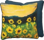 Abstract Sunflower Design Beautiful Moments Decorative Cotton Throw Pillow 20x20 from Primitives by Kathy